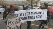 Play video: Africville residents, allies march for justice