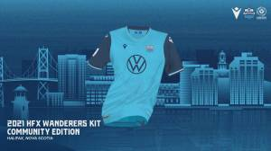Paul models the new 2021 HFX Wanderers kit: Community Edition (05:36)
