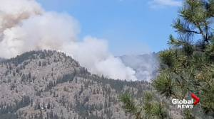 Wildfire burning south of Penticton (00:32)
