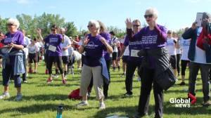 Senior honoured for 75 years of volunteering in the Edmonton area (01:42)