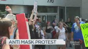 Anti-mask protest in montreal