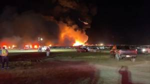 A fire at a Florida airport destroys rental car lot