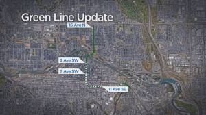 City of Calgary reveals updated plan for stage one of Green Line LRT