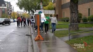 Calgary students march through downtown in rally for action on climate change