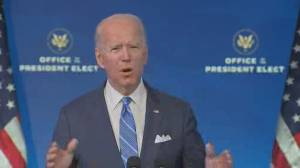 Coronavirus: Biden renews pledge to vaccinate 100 million Americans in his first 100 days (00:52)