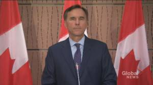 Bill Morneau says he tendered resignation, was not asked to resign (02:44)