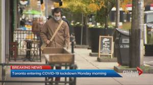 Coronavirus: Toronto to enter second lockdown on Nov. 23 (02:17)