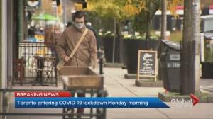 Coronavirus: Toronto to enter second lockdown on Nov. 23 (02:17)