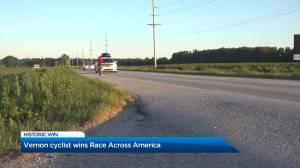 Vernon athlete wins Race Across America (01:59)
