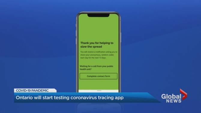 Coronavirus Ontario Piloting New Covid 19 Contact Tracing App Launch Expected July 2 Globalnews Ca
