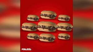 The McRib is back but only some McDonald's in America will see its return