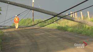 Lightning strike blamed for downed hydro poles near Peterborough