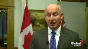 Minister of Public Safety Mike Farnworth talks flood buyouts in Grand Forks