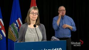 Alberta COVID-19 hospitalizations up by 3.1% in last 2 weeks, according to Hinshaw (03:09)