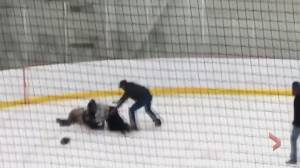 Video of hockey confrontation between referee and parents in Lethbridge makes waves in hockey community