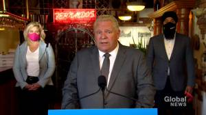 Coronavirus: Ford urges Ontarians to support small restaurants