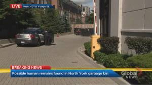 Possible human remains found in North York garbage bin