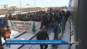 Rail blockades cause emergency debate in the House of Commons