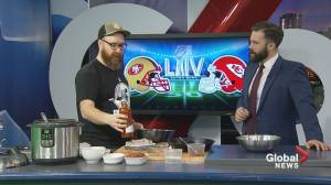 Super Bowl chili and spicy chicken with chef Andrew Cowan (05:20)