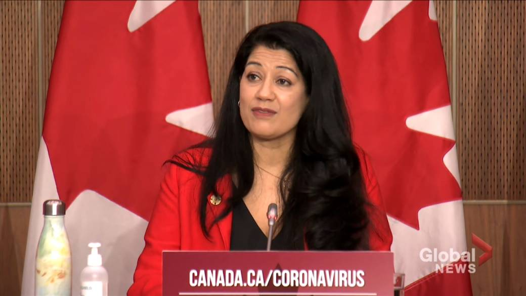 Click to play video 'Coronavirus: Health Canada says people allergic to any Pfizer vaccine ingredient should avoid use'