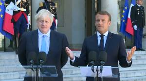 UK's Johnson pushes for new Brexit deal, but France's Macron says time's too short