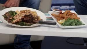Tir Nan Og Irish Pub showcases menu items from their Seafood Fest