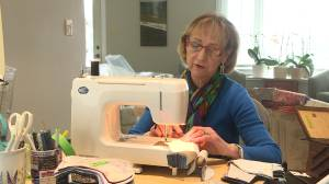 Kingston woman raises $12,000 for charity by sewing COVID-19 masks (01:59)