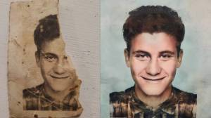 Strangers come together to restore photo of Toronto woman's late dad (02:39)