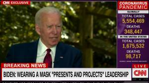 "Coronavirus outbreak: Biden calls Trump a ""fool"" for retweet making fun of him wearing a mask"