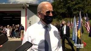 9/11 anniversary: Biden says biggest issue facing Americans 20 years later is 'whether democracy can work' (01:58)