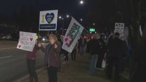 CUPE holds rally at Foothills Medical Centre (02:46)