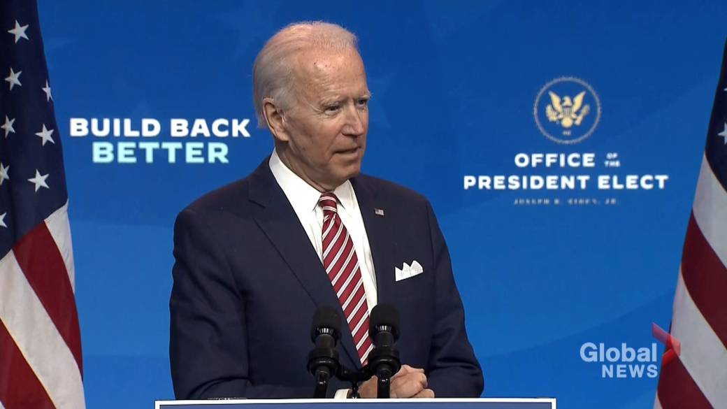 Click to play video 'US election: Biden responds to Trump's backtrack on recognizing his win'