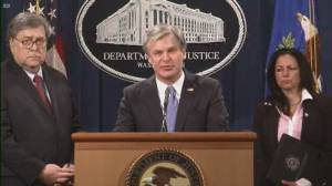 George Floyd death: FBI director says authorities will arrest violent offenders no matter their ideology