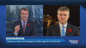 Ontario finance minister discusses 2020 budget (02:43)
