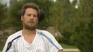 Calgary man paralyzed after attempting to stop fleeing suspect tells his story (02:10)