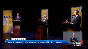 Nova Scotia party leaders square off in first leaders debate of campaign (02:01)