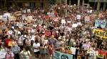 Thousands of Australians protest over climate change policy as bushfires rage