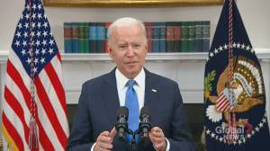 Biden says Russian government not responsible for Colonial Pipeline cyberattack (01:05)