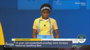 What's Brewing: First African-American winner in Spelling Bee history (01:58)
