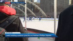 Toronto Maple Leafs hold outdoor practice at Nathan Phillips Square