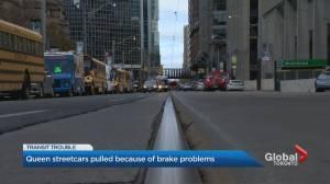 Damaged streetcars halt track transit on Queen Street