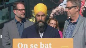 Federal Election 2019: NDP Leader Jagmeet Singh says they're focused on Trudeau, not Greens after Eric Ferland named candidate