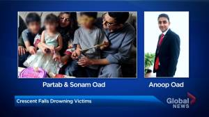 Trio killed in Alberta waterfall identified as parents of 3 and their nephew