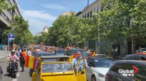 Coronavirus outbreak: Cars gather in Madrid as Spain's far-right Vox party protests country's lockdown measures