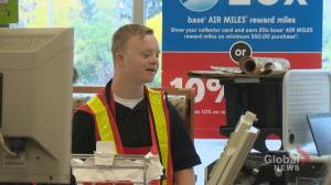 Man with Down syndrome enjoys 'giving back to our community' at Calgary supermarket