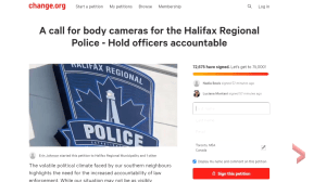 Over 70,000 people sign petition for body cameras in Halifax police