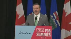 Alberta's three-stage reopening plan to start in June (02:10)