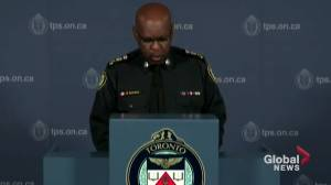 Toronto Police Chief Saunders says professional standards investigation among others to take place into Michael Theriault