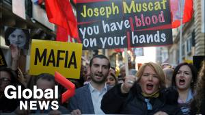 Malta protests: Thousands demand PM's resignation over murdered journalist