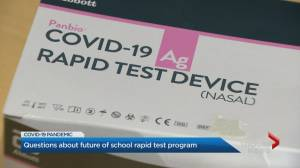 Questions about future of school rapid COVID-19 test program (02:07)